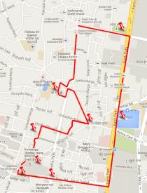Тамель: карта маршрута