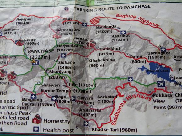 Карта маршрута к Панчаси